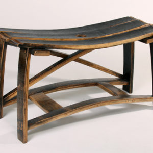 Bourbon Barrel Saddle Bench