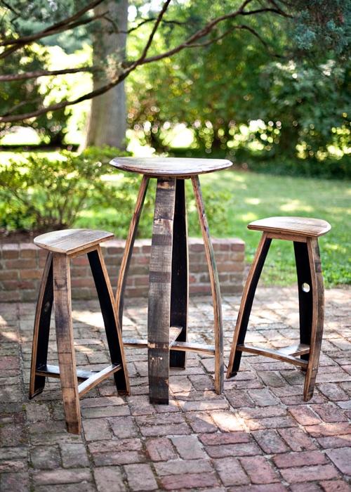 Bourbon Barrel Wood Furniture ~ Portfolio bourbon barrel furniture artisan