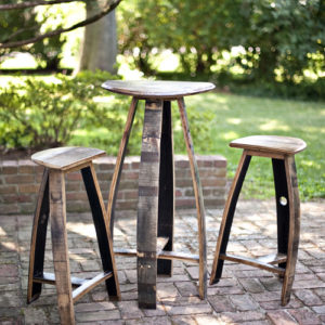 Bourbon Barrel Bar Table & Stools