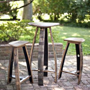 Bourbon Barrel Bar Table & Stools