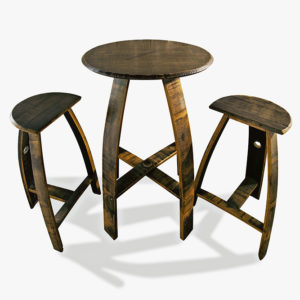 "26"" Round Table Set With Milking Stools"