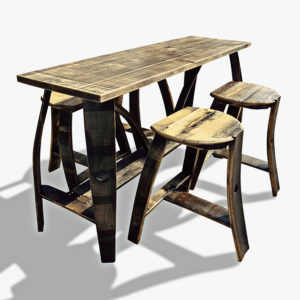 Tall Bar Table 4 Stools