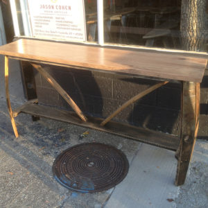 Low Bourbon Barrel Console Table