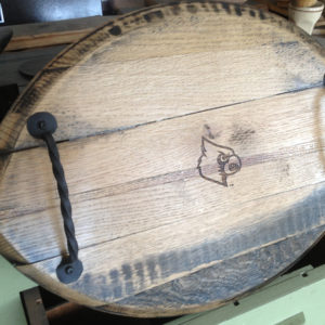 Bourbon Barrel Football Tray