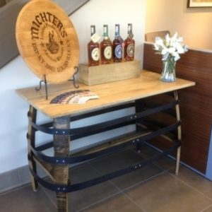 Console Table With Metal Hoops