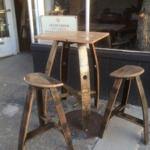 "26"" Square Table With Flat Stool"