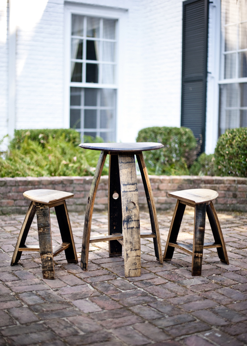 Bourbon Barrel Pub Set Table ...