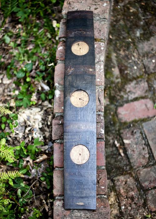 3 Hole Candle Votive Bourbon Barrel Furniture Bourbon