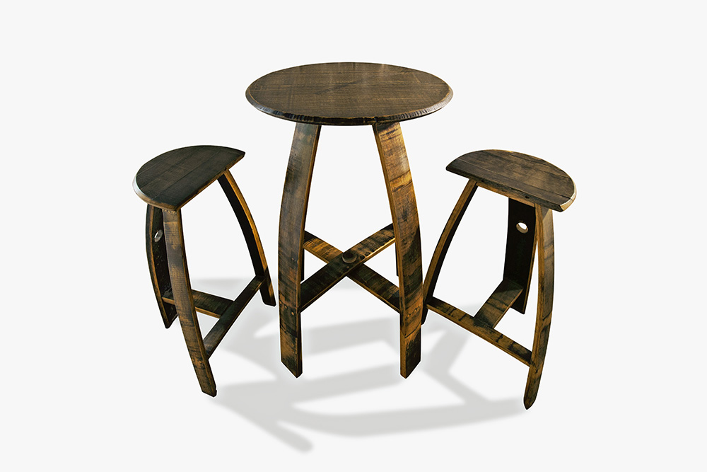 Superb 26 Round Table Set With Milking Stools Gmtry Best Dining Table And Chair Ideas Images Gmtryco